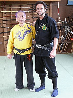 Hatsumi Sensei mit Nikolaos Stefanidis
