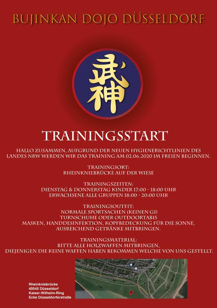 Trainingsstart Juni 2020